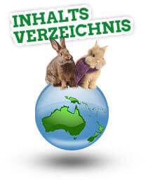 Das Inhaltsverzeichnis des Ratgebers Kaninchenstallwelt.de