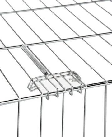 Detailansicht des Freilaufgehege Größe 144x112x60cm mit verzinkten Gittern und Sonnenschutz