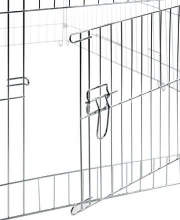 Türe des Freilaufgehege Größe 144x112x60cm mit verzinkten Gittern und Sonnenschutz
