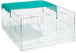Kerbl Freilaufgehege Größe 144x112x60cm mit verzinkten Gittern und Sonnenschutz