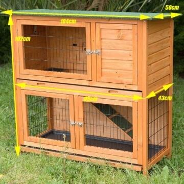 bunny-business-zweistoeckiger-kaninchen-meerschweinchenstall-mit-ausziehfaechern-ca-104-cm-3