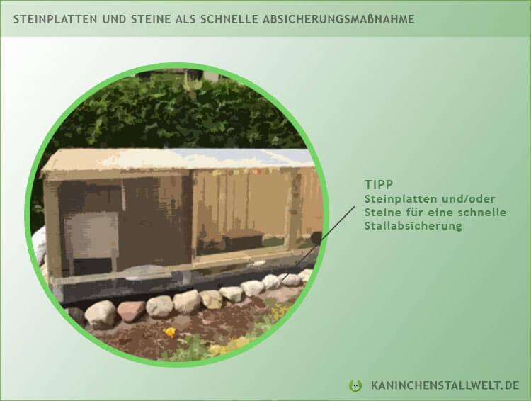 kaninchenstall-absichern-steine